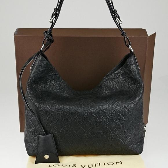 c5206b2a3163 Louis Vuitton Handbags - Louis Vuitton Antheia noir leather hobo empreinte